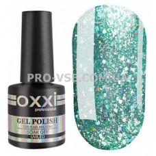 Гель-лак Oxxi STAR GEL № 004 Мятный голубой, блестки 8 мл фото