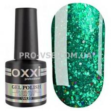 Гель-лак Oxxi STAR GEL № 007 Бирюзовый зеленый, блестки 8 мл