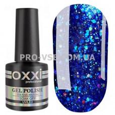 Гель-лак Oxxi STAR GEL № 008 Синий, блестки 8 мл фото