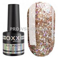 Гель-лак Oxxi STAR GEL № 009 Золотистый бежевый, шампанское, блестки 10 мл фото