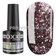 Гель-лак Oxxi STAR GEL № 010 Шоколадный коричневый, блестки 8 мл фото