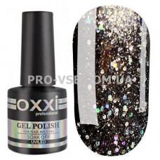 Гель-лак Oxxi STAR GEL № 012 Черный, блестки 8 мл