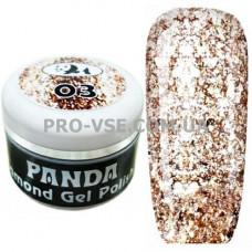 Гель-лак PANDA 03 Красное золото, бриллиантовый блестящий, фото | PRO-VSE