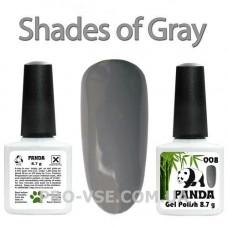 Гель-лак PANDA 008 (серый, эмаль) 8.7 г фото
