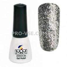 Гель-лак Бриллиантовый 204 Темное серебро M-in-M 5 мл