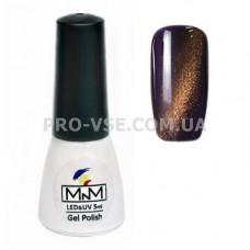 Гель-лак кошачий глаз 106 M-in-M фиолетовый, золотой блик 5 мл