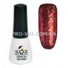 Гель-лак Бриллиантовый 208 Красный кирпичный M-in-M Brilliant Mirror Collection 5 мл