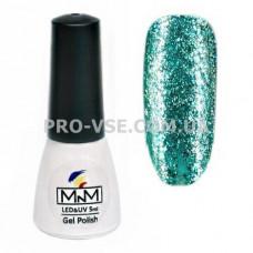 Гель-лак Бриллиантовый 210 Бирюзовый голубой M-in-M Brilliant Mirror Collection 5 мл