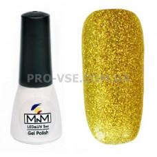Гель-лак M-in-M J07 (082) золотой глиттерный 5 мл
