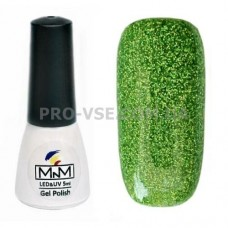 Гель-лак M-in-M J09 (084) зеленый глиттерный 5 мл