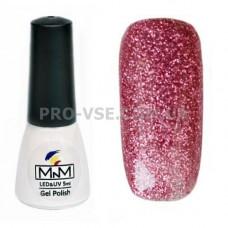 Гель-лак M-in-M 087 темный розовый глиттерный 5 мл