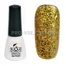Гель-лак M-in-M 096 золотой с блестками 5 мл