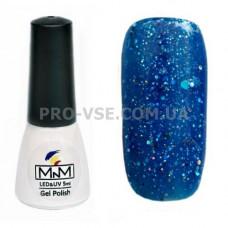 Гель-лак M-in-M 097 синий с блестками 5 мл