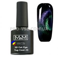 Топ 3D кошачий глаз M-in-M № 3 фиолетовый/бирюзовый 7.5 мл