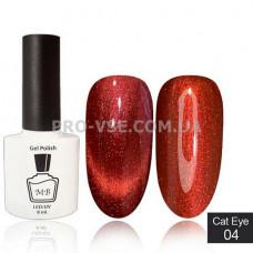 Гель-лак MB Cat Eye 04 красный с микроблеском, красный блик 8 мл фото | PRO-VSE