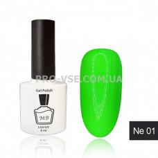 Гель-лак MB Ne-01 зеленый неоновый Neon Collection, 8 мл фото   PRO-VSE