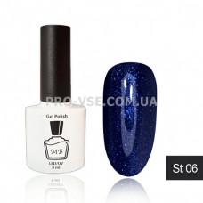 Гель-лак МВ ST-06 Темно-синий, синий микроблеск 8 мл фото ногти | PRO-VSE