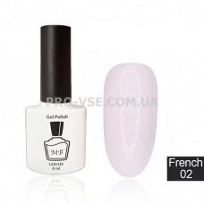 Гель-лак MB Fr-02 Молочный светло-розовый French Collection 8 мл фото | PRO-VSE
