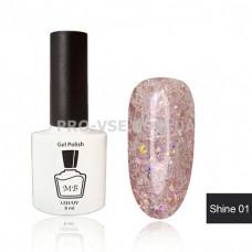 Гель-лак МВ Sh-01 Розовый с блестками Shine collection 8 мл фото ногти   PRO-VSE