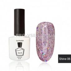 Гель-лак МВ Sh-06 Розовый голографический Shine collection 8 мл фото ногти   PRO-VSE