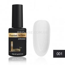 Гель-лак LUMINA lux №001 белоснежный белый, эмаль 8мл фото ЛЮМИНА люкс | PRO-VSE