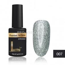 Гель-лак LUMINA lux №007 серебристо-розовые блестки, 8мл фото ЛЮМИНА люкс | PRO-VSE