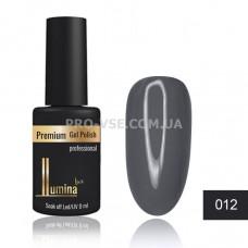 Гель-лак LUMINA lux №012 серый, эмаль 8мл фото ЛЮМИНА люкс | PRO-VSE