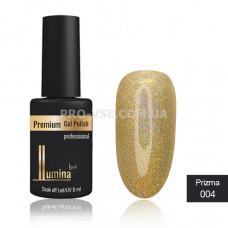 Гель-лак LUMINA lux PRIZMA №004 золото, голограмма 8мл фото ЛЮМИНА люкс | PRO-VSE
