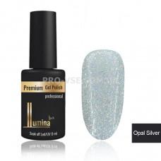 Гель-лак LUMINA lux OPAL SILVER, серебряные голографические блестки 8мл фото ЛЮМИНА люкс | PRO-VSE