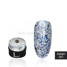 Гель-лак LUMINA lux Starlight №001 серебро, голографические блестки 5мл фото ЛЮМИНА люкс   PRO-VSE
