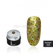 Гель-лак LUMINA lux Starlight №002 золото, голографические блестки 5мл фото ЛЮМИНА люкс   PRO-VSE