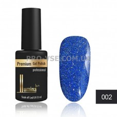 Гель-лак LUMINA lux DISCO FASHION №02 светоотражающий синий, блестки 8мл фото ЛЮМИНА люкс | PRO-VSE