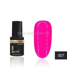 Гель-лак LUMINA lux MINI №007 очень яркий розовый (малиновый), эмаль 3мл фото ЛЮМИНА люкс   PRO-VSE