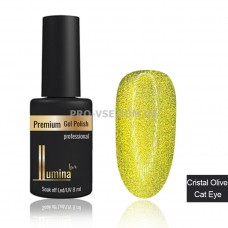 Гель-лак Cristal Olive Cat Eye Lumina Lux, магнитный 8мл   фото ЛЮМИНА люкс | PRO-VSE