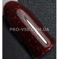 Гель-лак LUXTON № 002 темный бордовый, мелкие блестки 10 мл