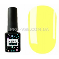 Гель-лак Kira Nails 075 бледный желтый, эмаль 6 мл