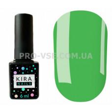 Гель-лак Kira Nails 126 приглушенный мятно-зеленый, эмаль 6 мл