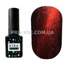 Гель-лак Kira Nails Cat eye 004 коричневый магнитный 6 мл