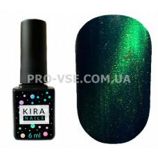 Гель-лак Kira Nails Cat eye 005 изумрудный зеленый магнитный 6 мл