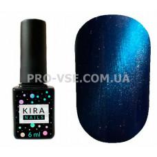 Гель-лак Kira Nails Cat eye 007 монтана, джинсовый синий магнитный 6 мл