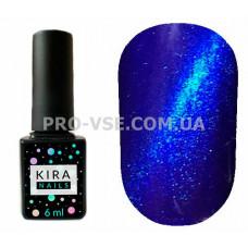 Гель-лак Kira Nails Cat eye 008 насыщенный синий магнитный 6 мл