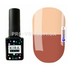 Термо гель-лак Kira Nails T02 молочный шоколад / кремовый 6 мл