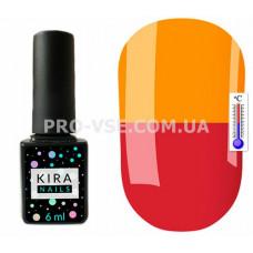 Термо гель-лак Kira Nails T06 Малиново-красный / насыщенный оранжевый 6 мл