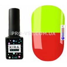Термо гель-лак Kira Nails T07 Карминно-красный / неоновый желтый 6 мл