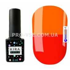 Термо гель-лак Kira Nails T08 Карминно-красный / неоновый оранжевый 6 мл