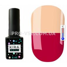 Термо гель-лак Kira Nails T15 Малиновая фуксия / бежево-розовый 6 мл