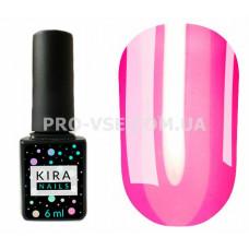 Гель-лак Kira Nails Vitrage V12 неоновый розовый витражный 6 мл