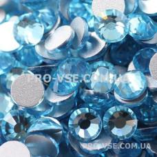 Стразы, камни стекло для ногтей, для маникюра  голубые SS 3 Аквамарин 1440 шт