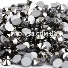 Стразы, камни стекло для ногтей, для маникюра SS 3 Гематит хром EsVorp 100 шт