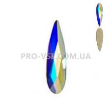 Стразы фигурные Crystal AB Капля длинная 2.5х6 мм EsVorp фото на ногтях | PRO-VSE